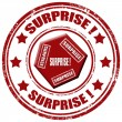 Surprise-stamp — Stock Vector