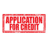 Application For Credit-stamp — Stockvektor