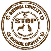Stop Animal Cruelty-stamp — Stock Vector