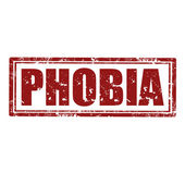 Phobia-stamp — Stock Vector