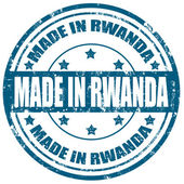 Made in Rwanda-stamp — Stock Vector