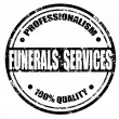 Stock Vector: Funerals Services-stamp