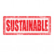 Stock Vector: Sustainable-stamp