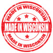 Made in Wisconsin-stamp — Stockvektor