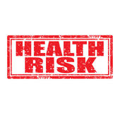 Health Risk-stamp — Stock Vector