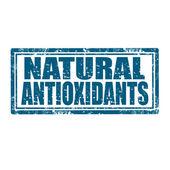 Natural Antioxidants-stamp — Stock Vector