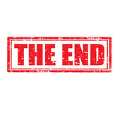The End-stamp — Stock Vector
