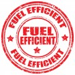 Fuel Efficient-stamp — Stock Vector