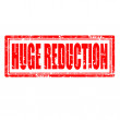 Stock Vector: Huge Reduction-stamp