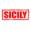Sicily-stamp — Stock Vector