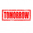 Tomorrow-stamp — Stock Vector