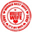 Stock Vector: World Best Wife-stamp