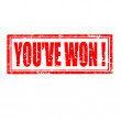 You've Won!-stamp — Stock Vector #34265103