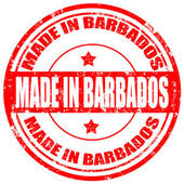 Made in Barbados-stamp — Stock Vector