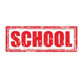 Sello de la escuela — Vector de stock