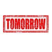 Tomorrow-stamp — Stock Vector