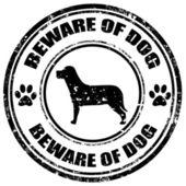 Beware Of Dog-stamp — Stock Vector