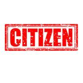 гражданин штамп — Cтоковый вектор