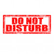 Do Not Disturb-stamp — Stock Vector