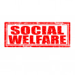 Social Welfare-stamp — Stockvector #34614397