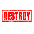 Destroy-stamp — Stock Vector