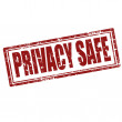 Privacy Safe-stamp — Stock Vector