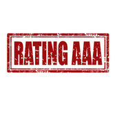 Rating AAA-stamp — Stock Vector