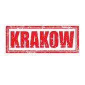 Krakow-stamp — Stock Vector
