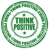 Think Positive-stamp — Stock Vector