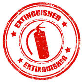 Extinguisher-stamp — Stock vektor