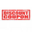 Discount Coupon-stamp — Stok Vektör