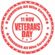 Stock Vector: Veterans Day-stamp