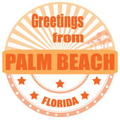 Greetings from Palm Beach-label — Vetorial Stock