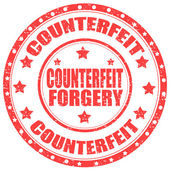 Counterfeit-stamp — Stock Vector