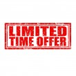 Limited Time Offer-stamp — Vettoriale Stock