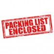 Packing List  Enclosed — Stock Vector