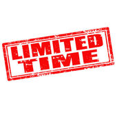 Limited Time-stamp — Stock Vector