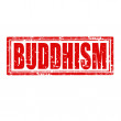 Buddhism-stamp — Stockvectorbeeld