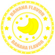 Banana Flavor — Stock Vector