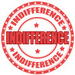 Stock Vector: Indifference-label
