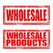 Wholesale-stamp — Stock Vector