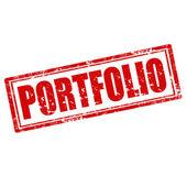 Portfolio-stamp — Stockvector