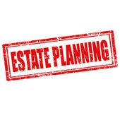 Estate Planning-stamp — Stock Vector