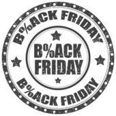 Černý pátek razítko — Stock vektor