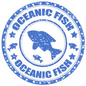 Oceanic Fish-stamp — Stock Vector