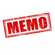 Memo-stamp — Stock Vector