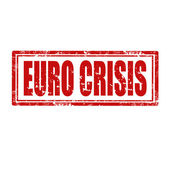 Euro Crisis-stamp — Stock Vector