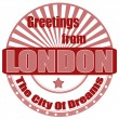 Greetings from London-label — Stock Vector
