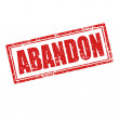 Stock Vector: Abandon-stamp