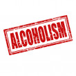 Alcoholism-stamp — Stock Vector